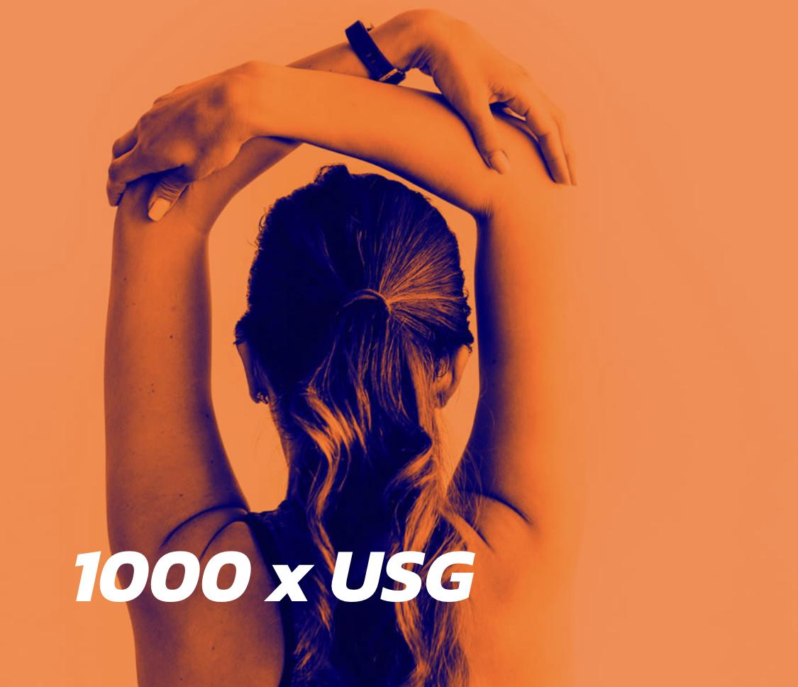 1000  x USG